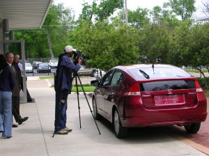 Local Media Was On Site To View First Hand The All New 2010 Honda Insight A Hybrid Vehicle That Named Of Top Ten Green Cars By Kelly Blue Book