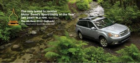 Subaru Outback Motor Trend SUV of the Year